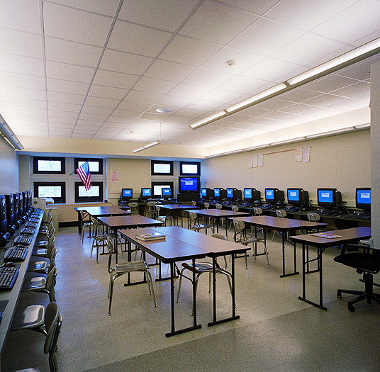 Fit Out Of High School Cafateria Build Computer Room